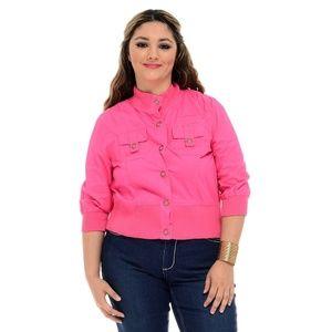 Jackets & Blazers - plus size hot pink cotton jacket size 2x xxl 16 18